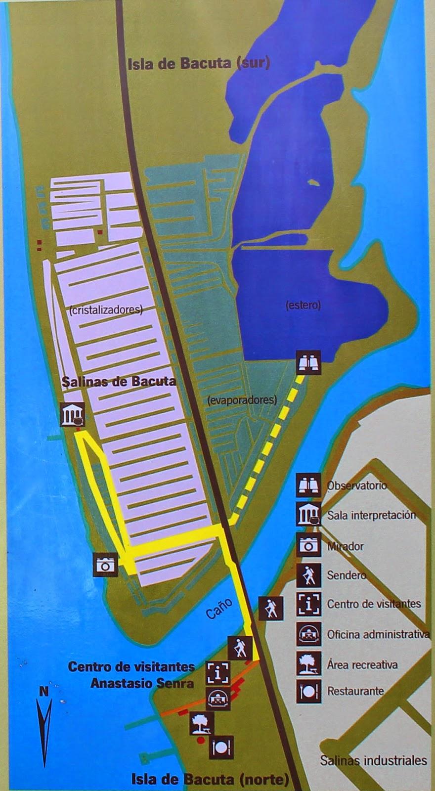 mapa sendero salinas bacuta