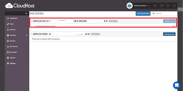 cara mengaktifkan custom domain di idcloudhost
