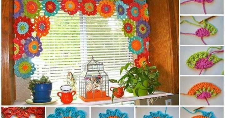 Patron crochet 3 cortinas para el hogar patrones crochet for Cortinas para el hogar