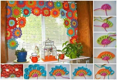 Cortinas para el hogar de crochet