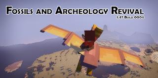 fosiles y arqueologia minecraft mod