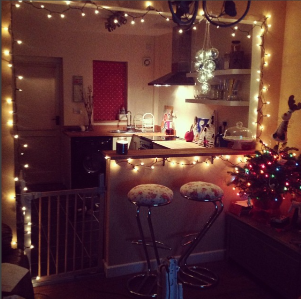 christmas in an open plan kitchen