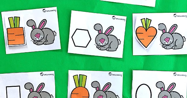 Feed The Easter Bunny Shape Matching