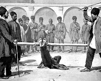 Eskiden falaya yatırılıp ayaklarına vurularak cezalandırılan bir kişi