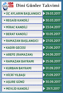 Ramazan Bayramı Ne Zaman 2017