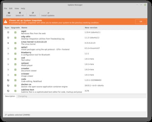 Configuração do TimeShift Linux Mint