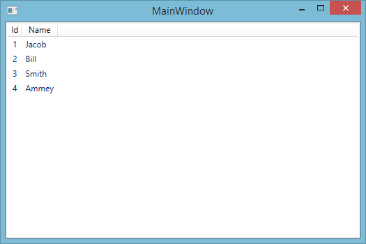 WPF LISTVIEW BINDING USING EDMX FILE