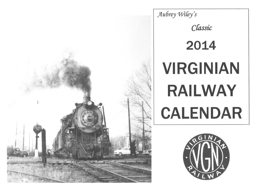 VIRGINIAN RAILWAY CALENDAR