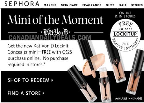 Sephora Free Kat Von D Lock-It Concealer