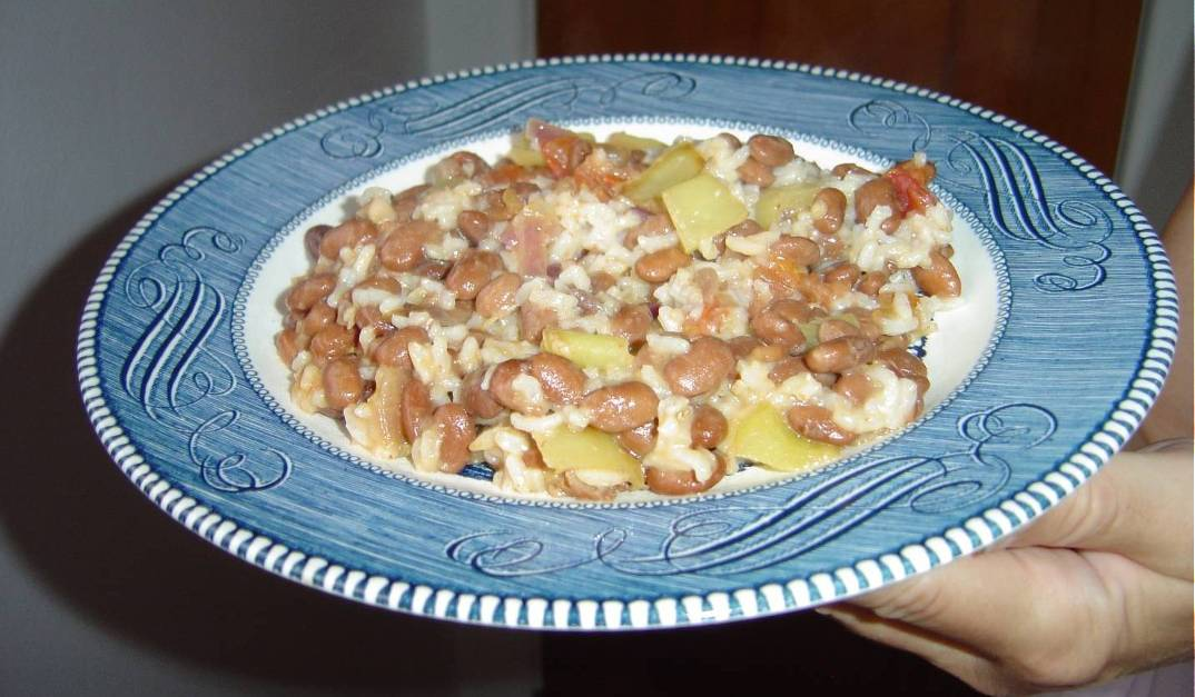 My Zesty Pinto Beans and Rice Dish