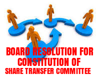 Board-Resolution-Constitution-Share-Transfer-Committee