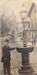 Henry F. Jenks with fountain