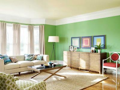 El verde como referente en la decoración