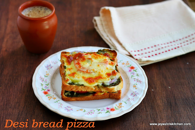 Desi bread pizza