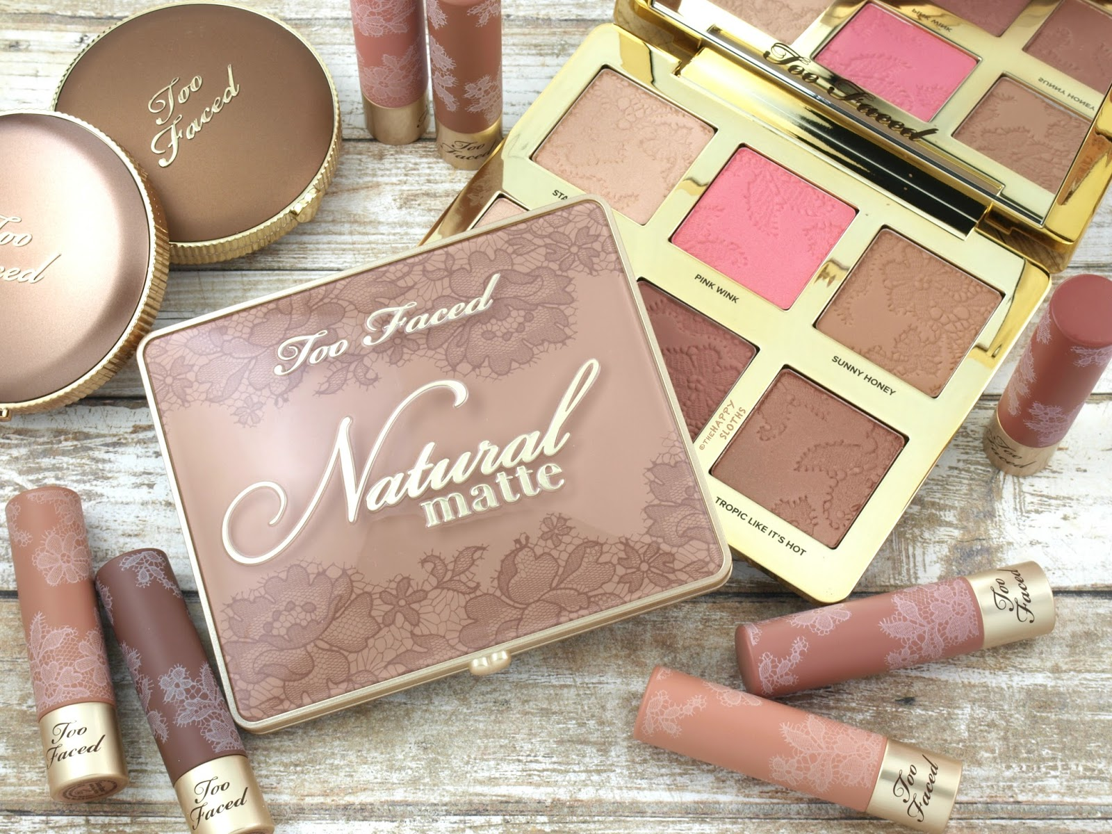 Too Faced Natural Face Makeup Palette & Natural Matte Eyeshadow Palette: Review and Swatches