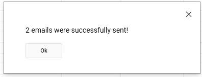 Emails Were Sent Successfully