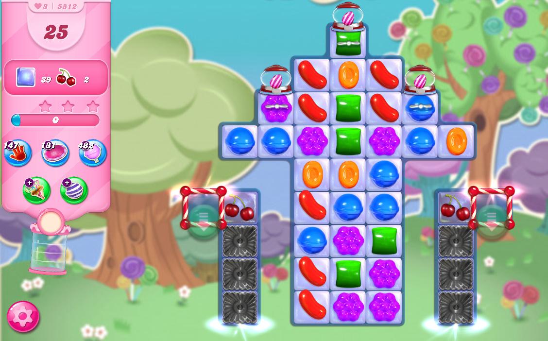 Candy Crush Saga level 5812