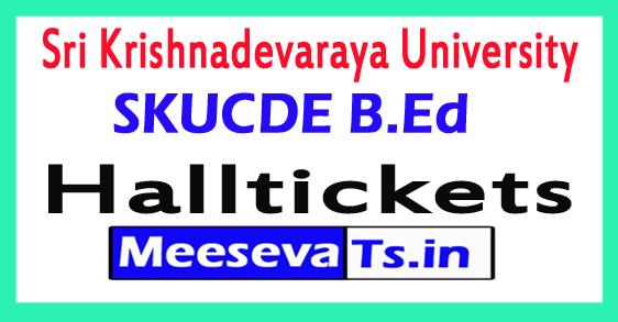 Sri Krishnadevaraya University B.Ed (ODLS) Hall Tickets 2017