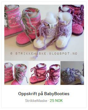 Strikkeoppskrift på babybooties