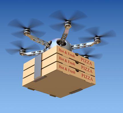دومينوز تفاجئ العالم بتوصيل البيتزا بطائره بدون طيار لأول مره