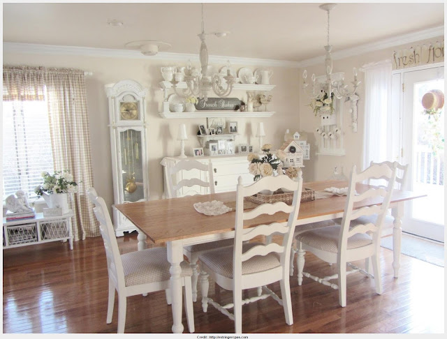 Popular Antique White Dining Table Wall Picture