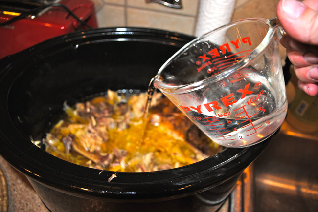 Cooking A Whole Chicken In A Slow Cooker And Making Broth -4768