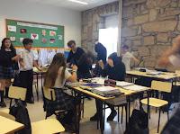 Guerra de bolas de papel. Trabajo colaborativo
