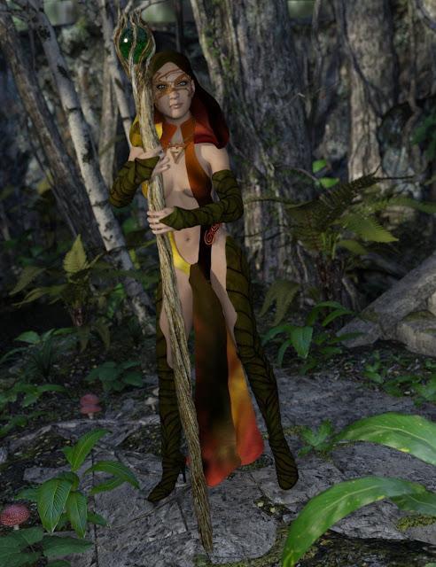Elementalist Witch for Genesis 3 Female