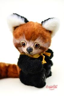 Künstlerteddys, Künstlerbären, Teddys, teddies, artist teddies, teddies with charm, NatalKa Creations, buy teddy, artist teddy buy, red panda, roter Panda, Kleiner Panda, Teddybär kaufen, авторская коллекция тедди, мишки тедди, красная панда, малая панда, панда тедди