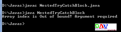 Nested try catch block Handling