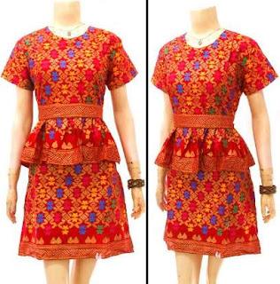 model baju batik atasan dan bawahan