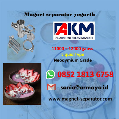 magnet separator yogurth