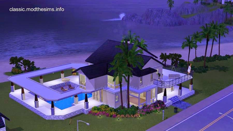 Casa de playa americana con piscina exterior imagen de renderizado