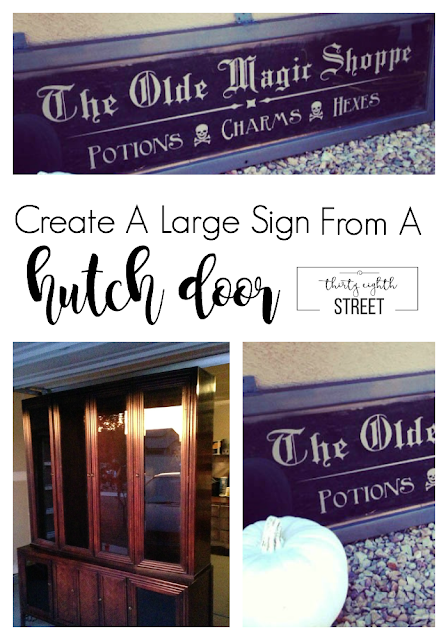 how to create large signs, diy signs, vinyl signs, how to make a sign, how to paint signs, holiday signs, halloween decorations, decorations, unique decor ideas, halloween tutorial