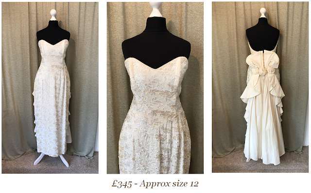 Pinup Bride sequinned strapless vintage wedding dress available from vintage lane bridal boutique wedding dress shop in bolton manchester