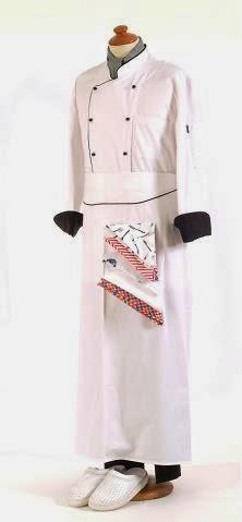 طاقم لبس مطبخ ابيض قماش جبردين
