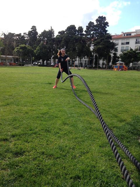 corda ondulatória battle rope