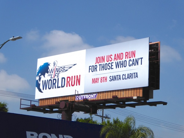 Wings for Life World Run 2016 billboard
