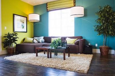 sala verde azul