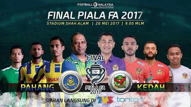 live streaming pahang vs kedah 2017