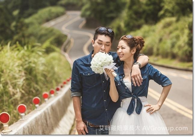 新娘捧花-白色繡球花-仿真花-婚紗道具