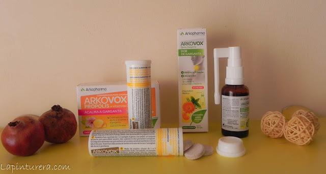 dos productos para la garganta