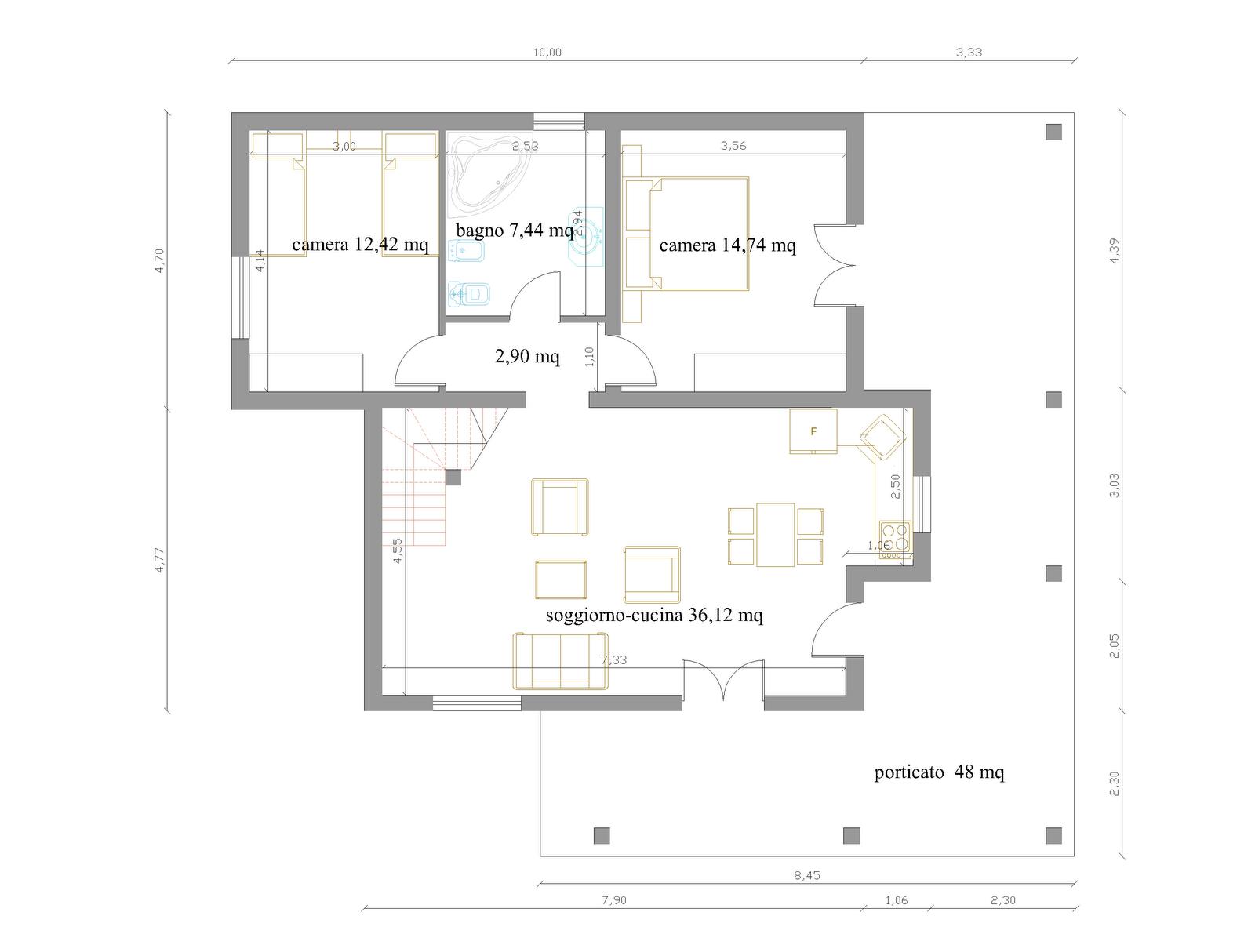 Conosciuto Progetti Case Piano Terra. Awesome Piano Casa Progetto Di Una With  VR92