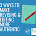 3 Ways to Make Revising & Editing More Authentic