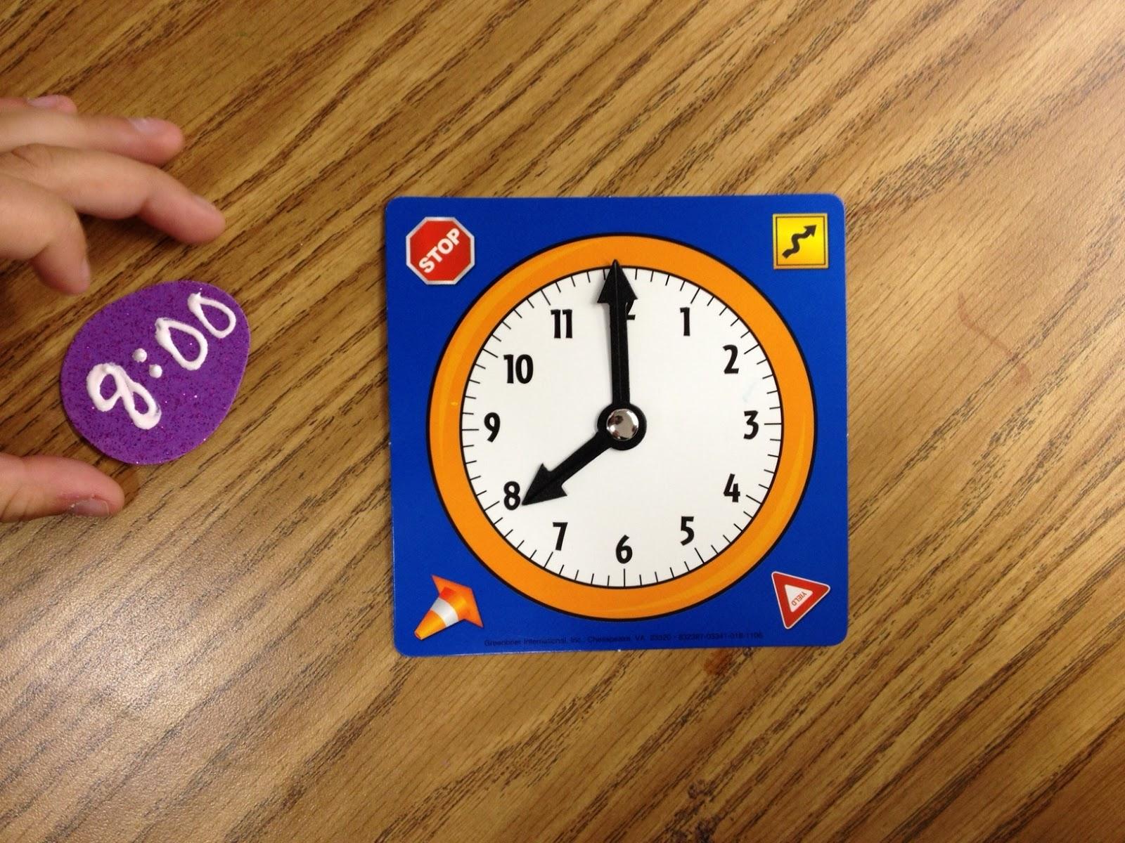 Telling Time In Kindergarten