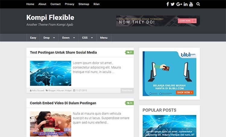 Premium Blogger Template Kompi Males V6