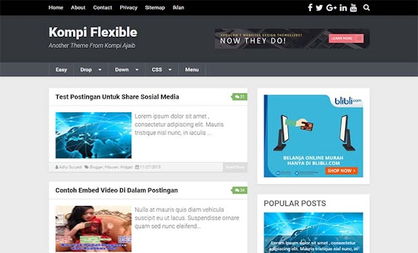 Premium Blogger Template - Kompi Flexible