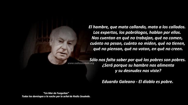 """Fragmento del relato """"El diablo es pobre"""" del libro Espejos de Eduardo Galeano"""
