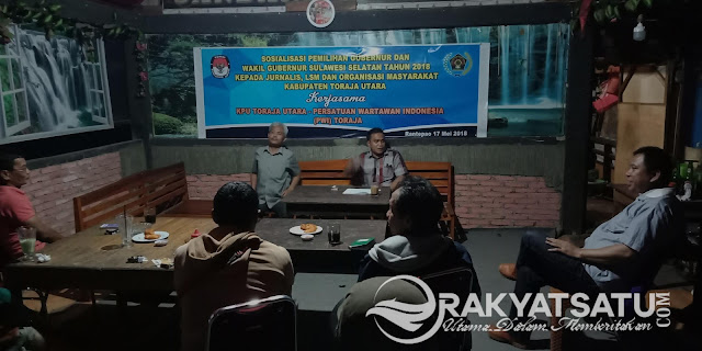 Menuju Pilkada Damai, KPU Toraja Utara Berharap Jurnalis Hindari Kepentingan Politik
