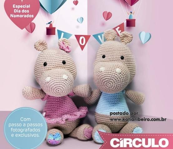 Hipopótamo Amigurumi ~ Patrón Gratis en Español | Patrones ... | 478x554
